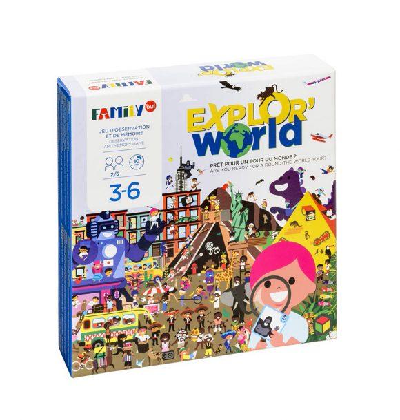 """Jeu """"cherche et trouve"""" ExplorWorld"""